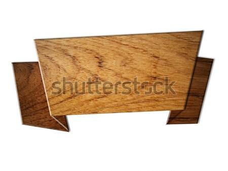 Teak Wood sign speech Rectangle Stock photo © nuttakit