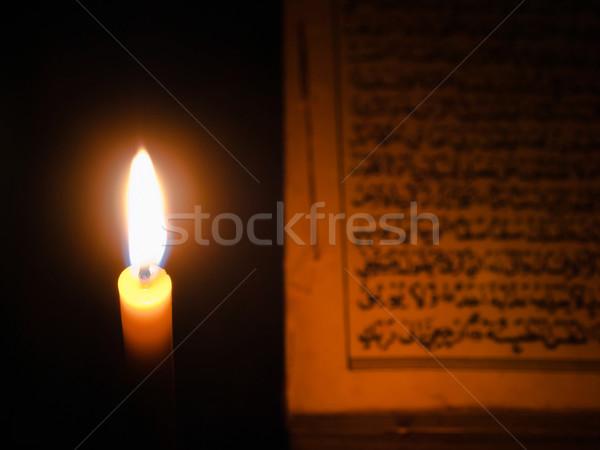 Candel light and Al-Quran Stock photo © nuttakit