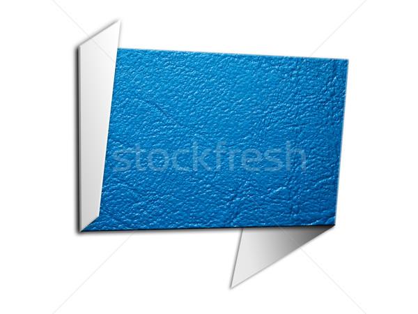 Fole Blue leatherette Sing Stock photo © nuttakit
