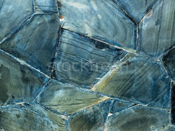 Texture of Blue Grunge Rock Wall Stock photo © nuttakit