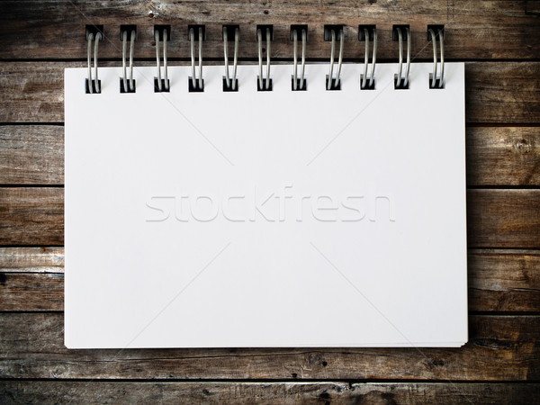 blank note paper on wood panel Stock photo © nuttakit