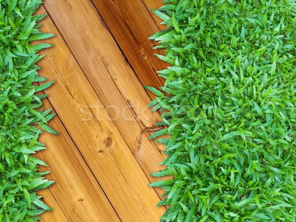 больше право зеленая трава древесины веб страница Сток-фото © nuttakit