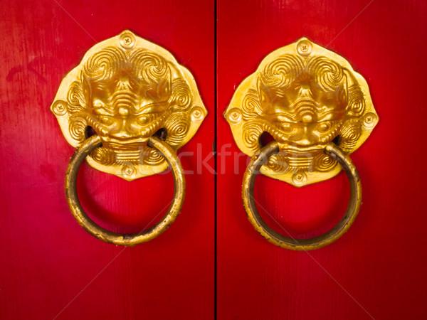 двери обрабатывать развивающийся китайский традиционный Сток-фото © nuttakit