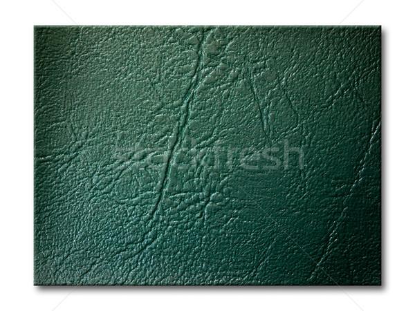 dark green Leatherette Background Stock photo © nuttakit
