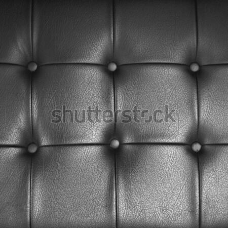 Zwarte leder decoratie textuur afgewerkt meubels Stockfoto © nuttakit