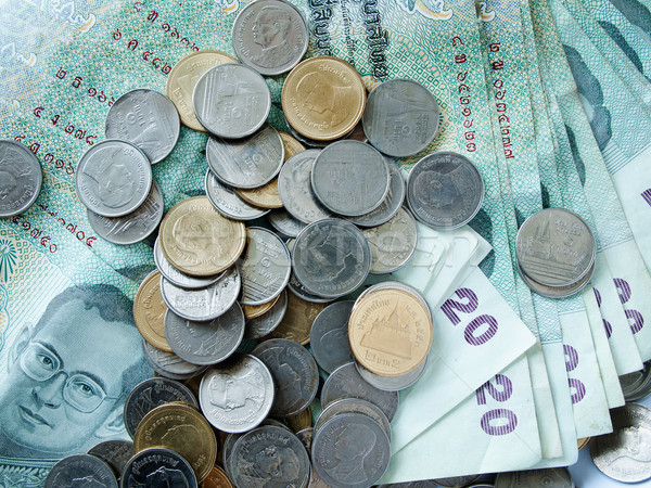 Thai coins and banknotes Stock photo © nuttakit