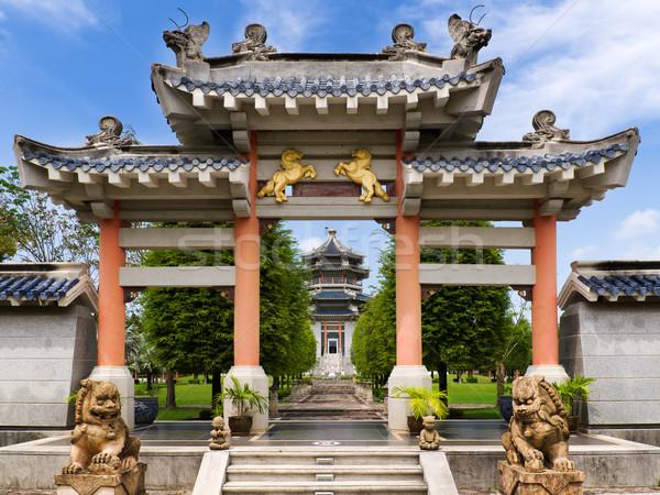 Stok fotoğraf: Çin · stil · giriş · görmek · bahçe