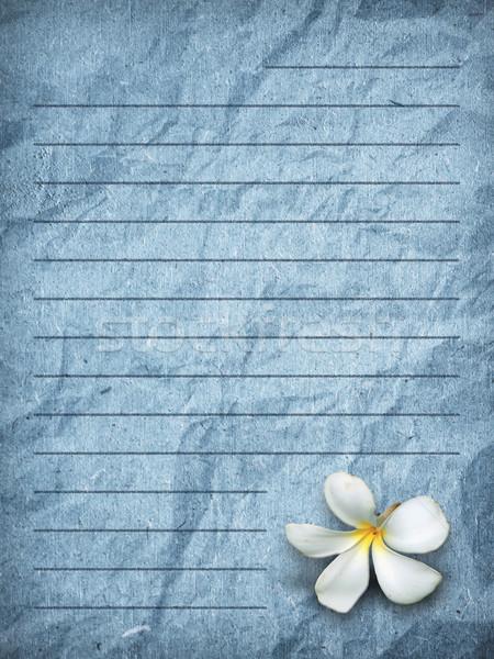 blue grunge letter paper stock photo © nuttakit sukjaroensuk