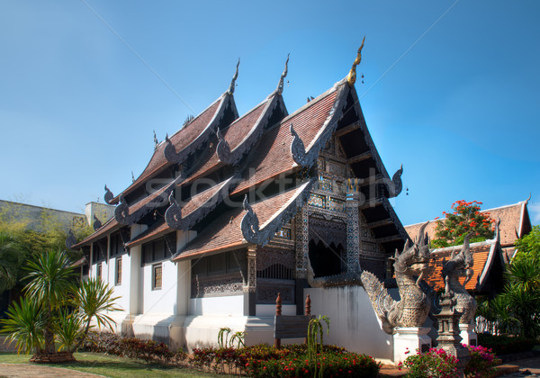 Carved wooden building The northern part of Thailand Stock photo © nuttakit