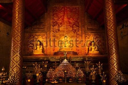 'Phra Sihing Buddha' Thai gold Buddha statues Stock photo © nuttakit