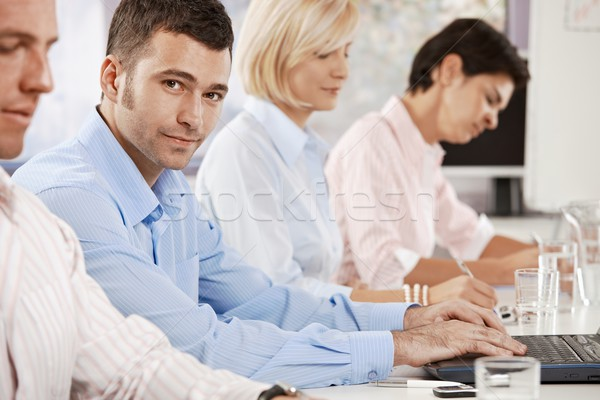Businessman on business meeting Stock photo © nyul