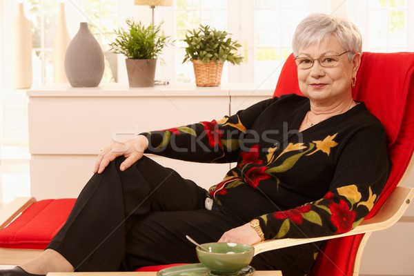Senior woman relaxing at home Stock photo © nyul