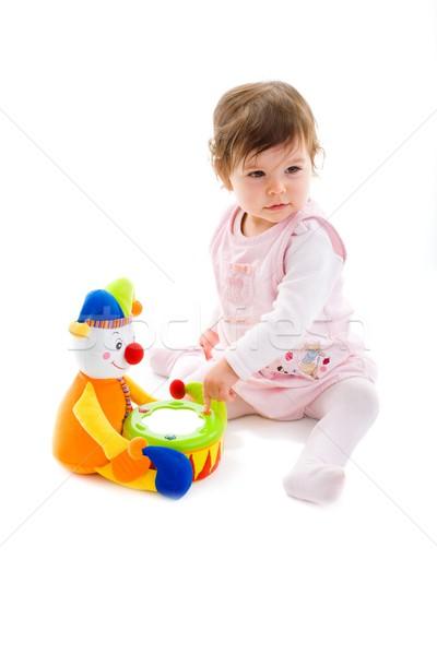 Baby spelen gelukkig vergadering Stockfoto © nyul