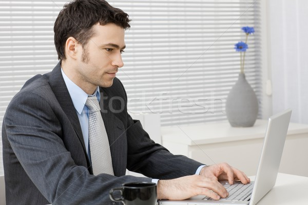 Businessman working on computer Stock photo © nyul