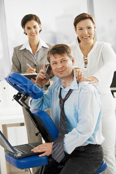 Massage at work Stock photo © nyul