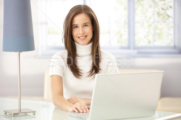 Portrait of woman in study Stock photo © nyul