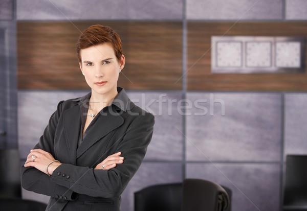 Portrait of determined businesswoman Stock photo © nyul