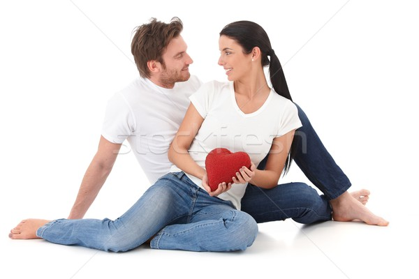 Romantic couple at Valentine's day smiling Stock photo © nyul