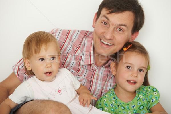 Ojciec dwa portret szczęśliwy patrząc Zdjęcia stock © nyul