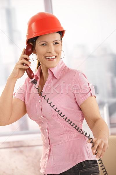 Engineer talking on landline Stock photo © nyul