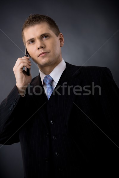 Businessman talking on mobile Stock photo © nyul