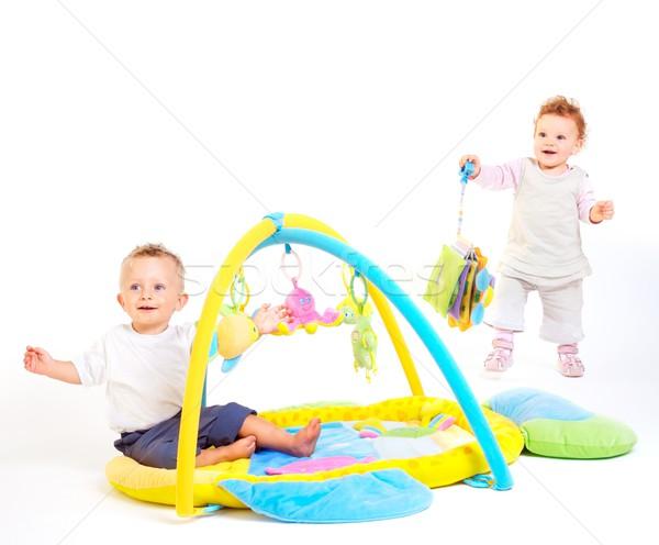 Baby spelen speelgoed jongen meisje Stockfoto © nyul