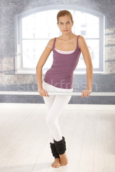 Ballet girl at class Stock photo © nyul