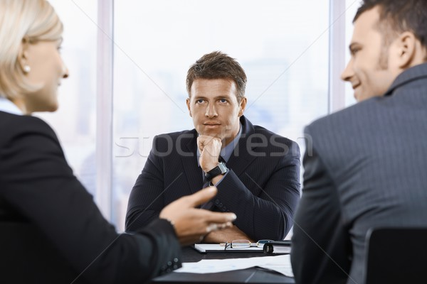Businessman concentrating in office Stock photo © nyul