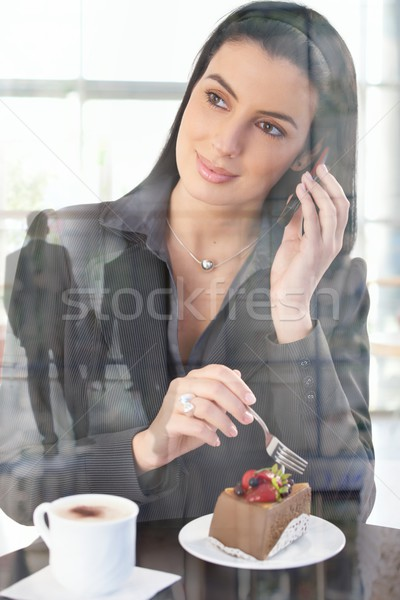 Businesswoman in office cafe Stock photo © nyul