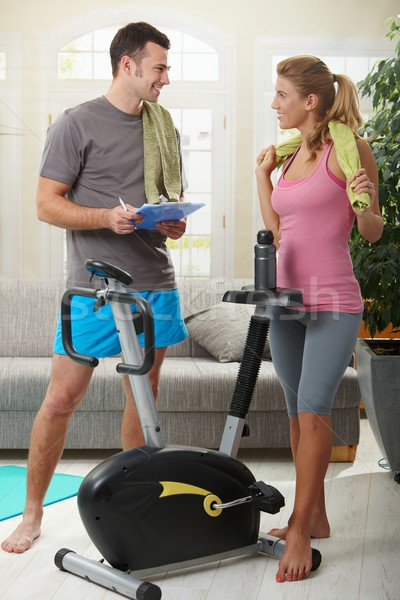 Woman with personal trainer Stock photo © nyul