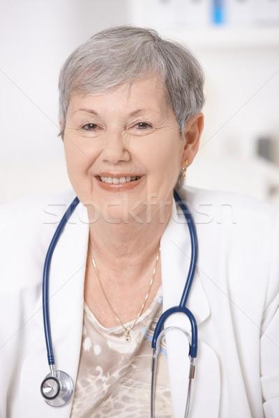 Stock photo: Portrait of senior doctor