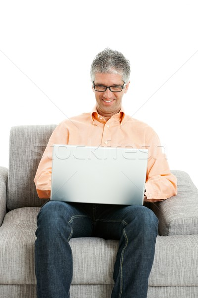 Man working on computer Stock photo © nyul