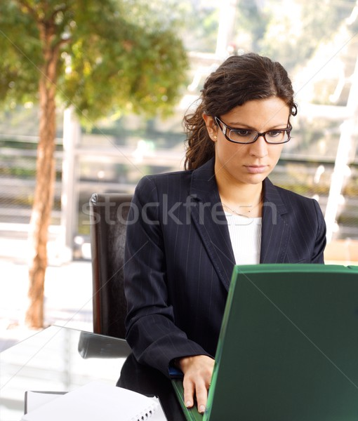 Businesswoman with laptop Stock photo © nyul
