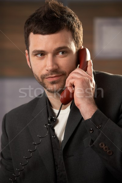 Stock photo: Professional on landline call