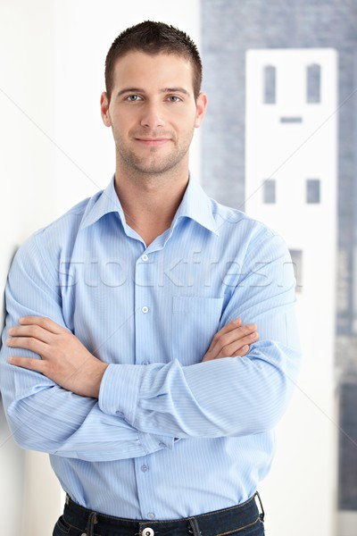 Goodlooking man smiling confidently Stock photo © nyul