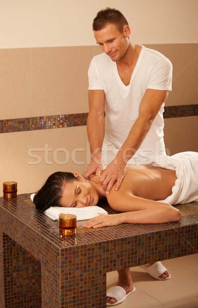 Masseur massage client table détente traitement Photo stock © nyul