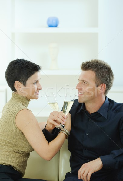 Couple clinking with champagne Stock photo © nyul