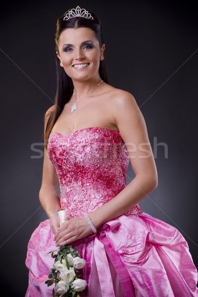 Bride in pink Stock photo © nyul