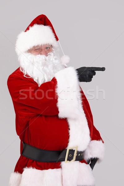 サンタクロース ポインティング 空白 肖像 見える カメラ ストックフォト © nyul