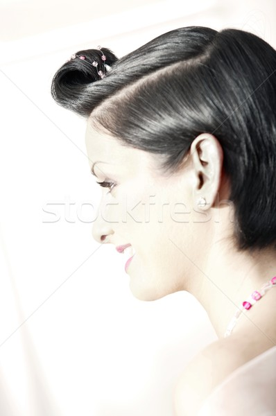 Beautiful young bride Stock photo © nyul