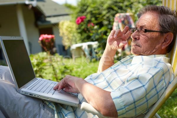 Сток-фото: старший · человека · Открытый · здорового · пожилого