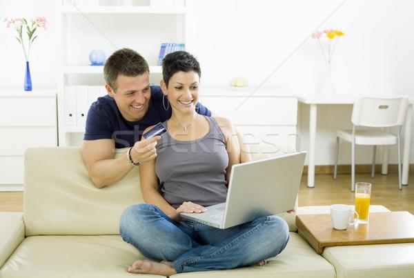 Couple shopping on internet Stock photo © nyul