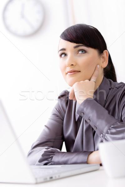Businesswoman thinking Stock photo © nyul