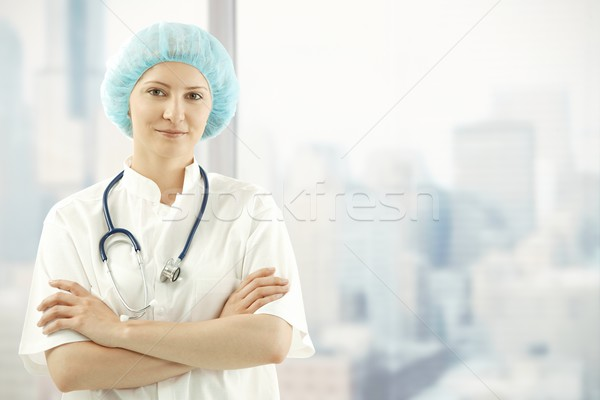 Medical doctor in skyscraper office Stock photo © nyul