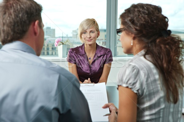Stock photo: Applicant during job interview