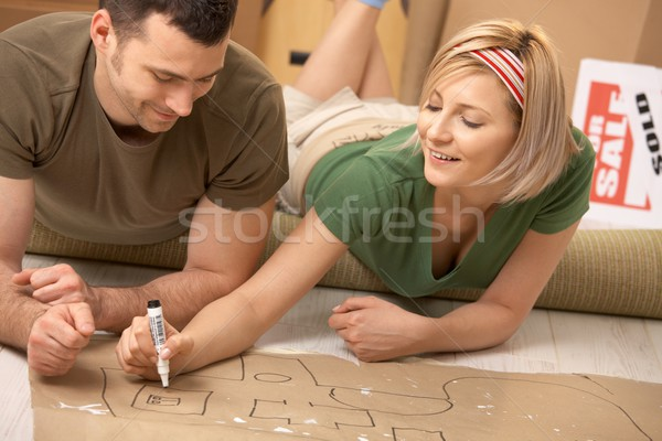 Couple planning their new home Stock photo © nyul