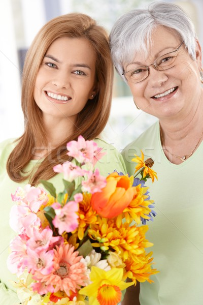 Happy mother and daughter at Mother's day Stock photo © nyul