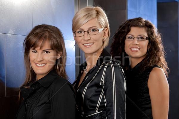 Stockfoto: Gelukkig · onderneemsters · portret · poseren · corporate