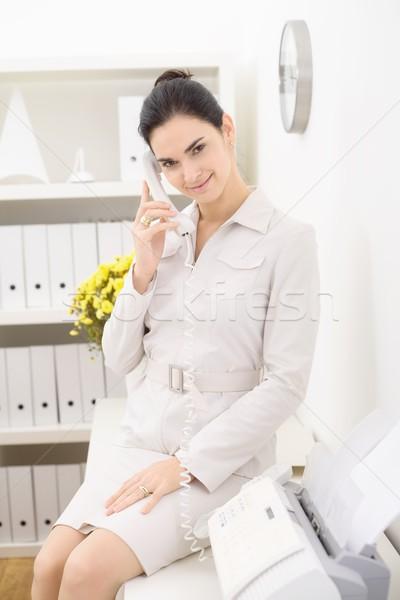 Businesswoman on the phone Stock photo © nyul
