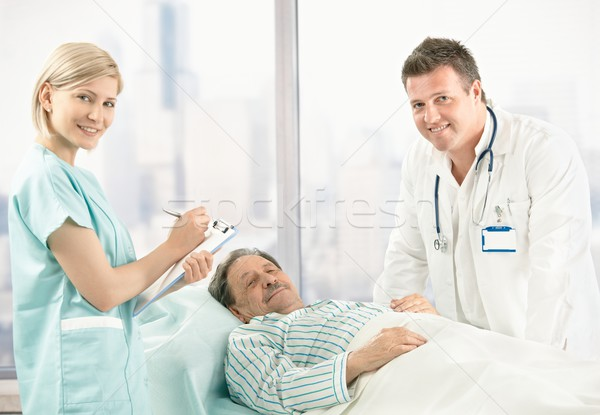 Portrait of doctor, nurse and patient Stock photo © nyul